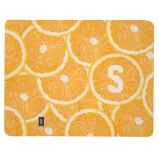 Oranges custom monogram pocket journal