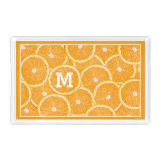 Oranges custom monogram trays
