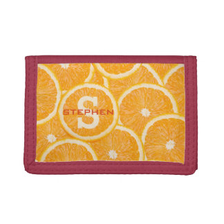 Oranges custom monogram wallets