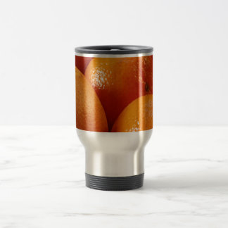 ORANGES FRESH FRUIT HEALTHY BUNCHES PHOTOGRAPHY FO STAINLESS STEEL TRAVEL MUG