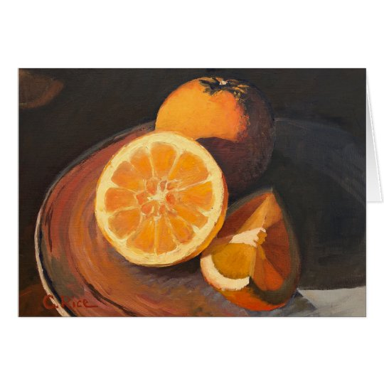 Oranges In Late Afternoon Sunlight Card