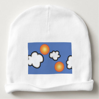 Oranges in The Clouds Custom Baby Cotton Beanie Baby Beanie