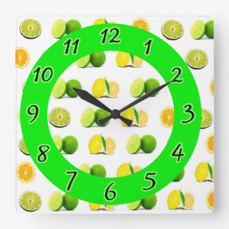Oranges, Lemons and Limes Kitchen Wall Clock