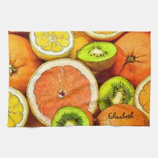 Oranges Lemons Grapefruit Kiwi Towel