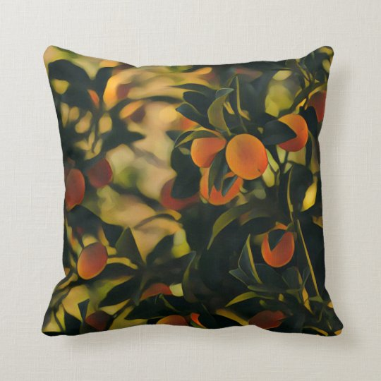Oranges Obsession Garden Throw Pillow / Cushion