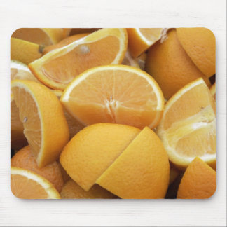 Oranges, quartered mouse pads