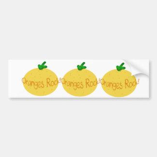 Oranges Rock! Bumper Sticker