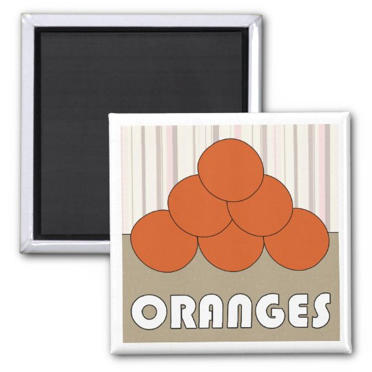 Oranges Series 3 Square Magnet