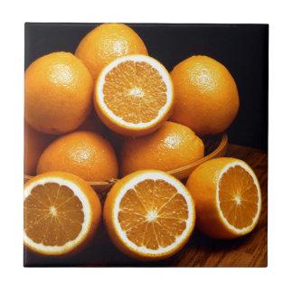 Oranges Small Square Tile