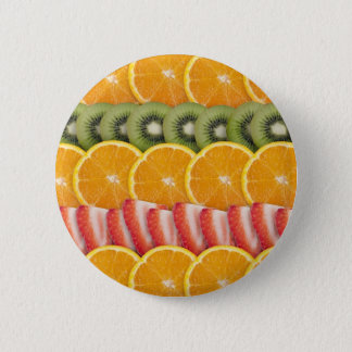 Oranges, Strawberries and Kiwi Fruit 6 Cm Round Badge