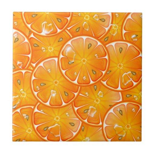 oranges ceramic tile