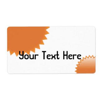 OrangeSeal Shipping Label