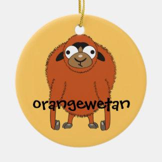 Orangewetan Christmas Ornament