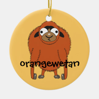 Orangewetan Round Ceramic Decoration