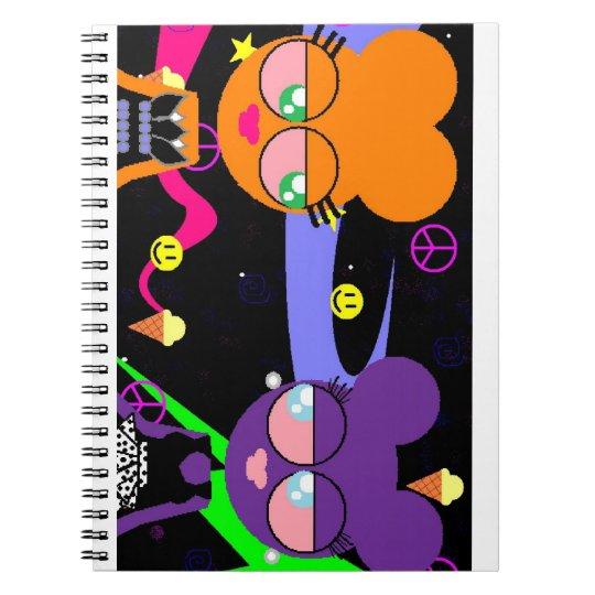 orangey & purple speciality *smacked* notebook