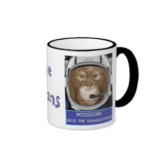 Orangutan Animal Mission Ringer Mug