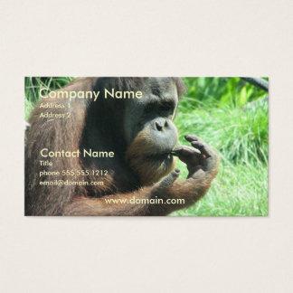 Orangutan Ape Business Card