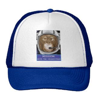Orangutan Astronaut Mission Cap