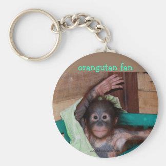 Orangutan at the Sanctuary Basic Round Button Key Ring