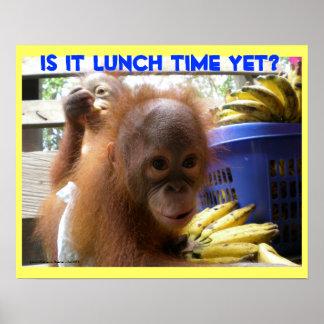 Orangutan Babies Lunch Posters