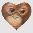Orangutan Baby Face Heart Sticker