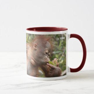 Orangutan Baby in Borneo Mug