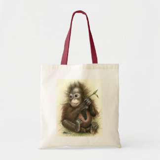 Orangutan Baby With Leaves