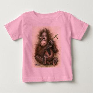 Orangutan Baby With Leaves Baby T-Shirt