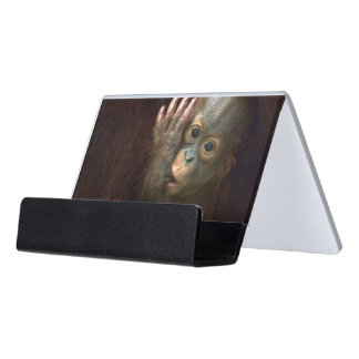 Orangutan Desk Business Card Holder