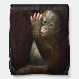 Orangutan Drawstring Bag