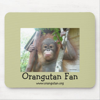 Orangutan Fan Mouse Mat