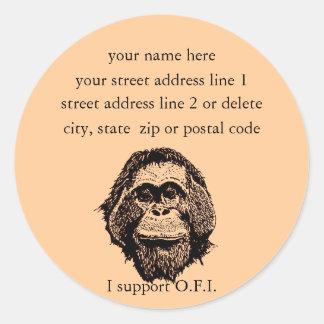 Orangutan Foundation International address labels