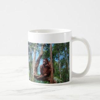 Orangutan in  Rainforest Lounging Chair Basic White Mug