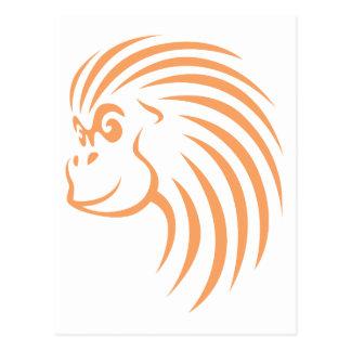 Orangutan in Swish Drawing Style Post Card