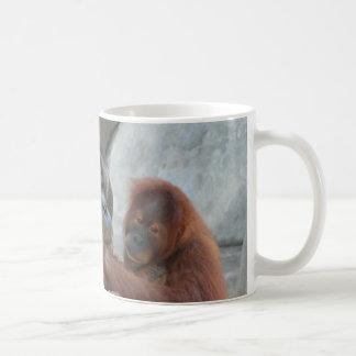 Orangutan Love Coffee Mugs