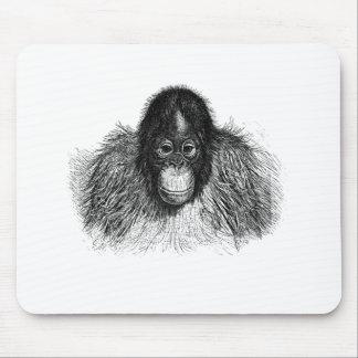 Orangutan Monkey Chimp Elegant Drawing Mousepads