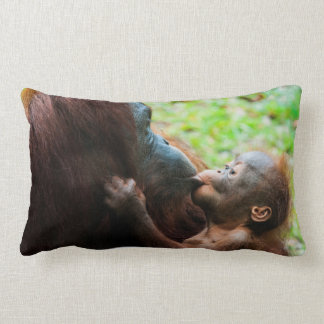 Orangutan mother and baby lumbar cushion