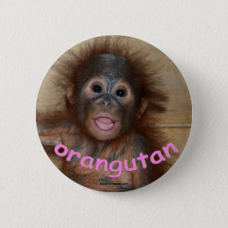Orangutan Pink Lips 6 Cm Round Badge