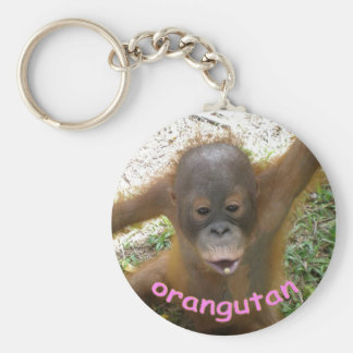 Orangutan Rainforest Snack Basic Round Button Key Ring