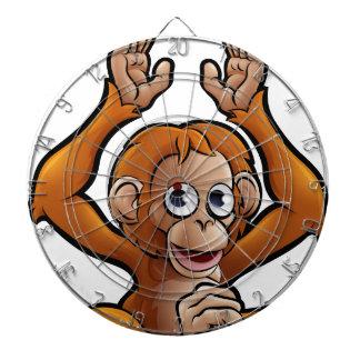Orangutan Safari Animals Cartoon Character Dartboard
