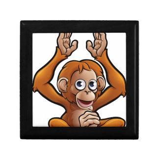 Orangutan Safari Animals Cartoon Character Small Square Gift Box
