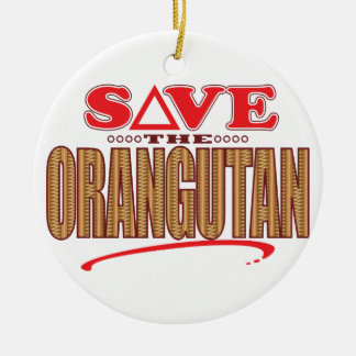 Orangutan Save Round Ceramic Decoration