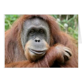 Orangutan Smile Card