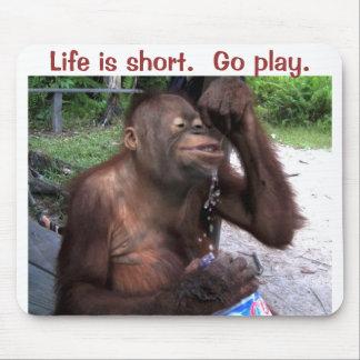 Orangutan Splashes in Water Mouse Mat