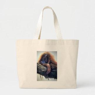 Orangutan study jumbo tote bag