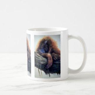 Orangutan study basic white mug