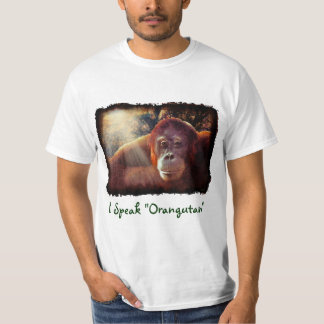 Orangutan Supporter Red Ape Wildlife Art Shirt