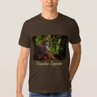 Orangutan Supporter Red Ape Wildlife Art T-Shirt