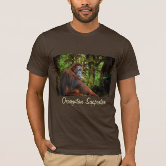 Orangutan Supporter Red Ape Wildlife Art T-Shirt