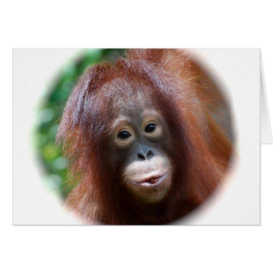 Orangutan Toddler Card